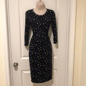 Black dotty knit dress from BODEN size 2R